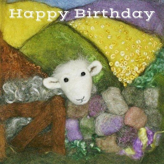Herdwick Sheep Birthday Card Herdy Birthday Card Lincolnshire Fenn